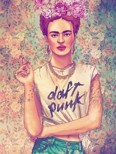 Frida Del Rey by Fab Ciraolo #print #illustration #concept #portrait #art #fine