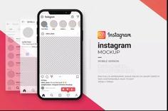 iPhone Instagram Mockup PSD