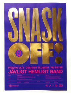 my tumblrisbetterthanyours:http://snask.com #gold #poster #foil