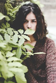 Gema on Behance #girl #photography #face #hiding #trees