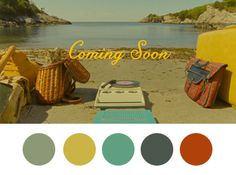Coming Soon. #wes #color #anderson #palette