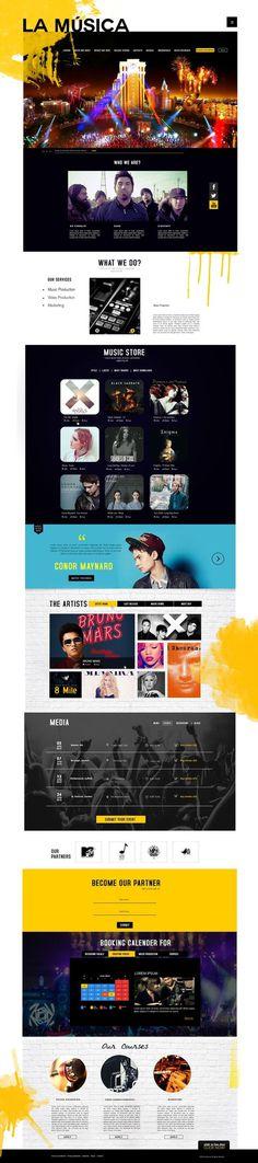 ♪♫ LA MÚSICA ♫   Experimento   eldiseño   #page #e #we #design #home #concept #music #layout