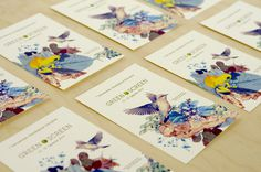 corporate design, nature filmfest #print #bird #nature #collage #animal #postcards
