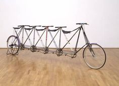 Five-Man Pedersen (Prototype No.1) // Artist: Simon Starling (born 1967) #art #bike #modern