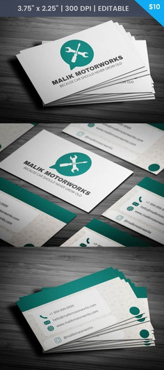 Free Whatsapp Themed Car Service Business Card Template