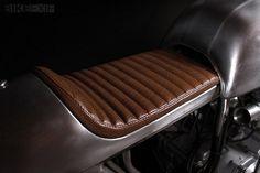CB750 Cafe #silver #racer #cafe #brown #honda #custom #motorcycle
