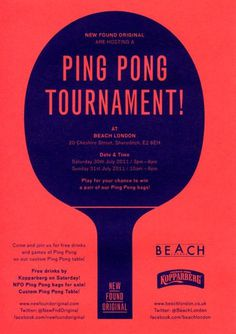 New Found Original's Ping Pong tournament at Beach #illustration #poster