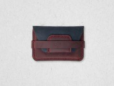 Leather Card Case Wallet with Flap Eighteen32 by Eighteen32