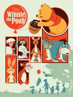 Reinvented Disney posters by Mondo-winniepooh #illustration #poster