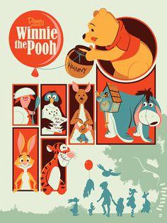 Reinvented Disney posters by Mondo-winniepooh