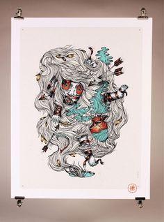 Bilder auf der Haut #illustration #poster