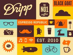 05_Dripp_Coffee_Pattern #coffee #colors #branding #dripp