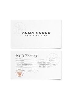 Alma Noble #business #branding #indetity #stationery #cards