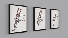 How to use Chopsticks poster print series MAKE/100 on Kickstarter. https://www.kickstarter.com/projects/684691375/how-to-use-chopsticks-poster-print-series-make-100