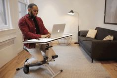 The Edge is an #adjustable kneeling chair-desk that solves all your #comfort, #productivity, and space-related issues. #productdesign #lifes