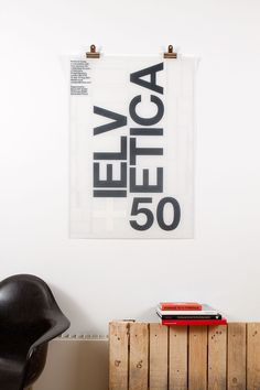 50 Years of Helvetica exhibition poster by Build