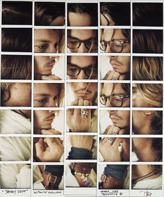Polaroid Mosaics of Celebrities by Maurizio Galimberti #creative #celebrity #photography #polaroid