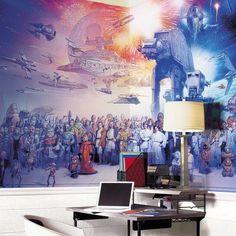 Star Wars Ensemble Wall Mural #wars #home #wall #star #sticker #decal