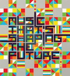 Future Music Typography by Neil Stevens #design #graphic #typography