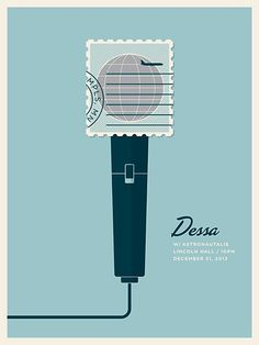 Dessa #illustration #gig #poster #microphone