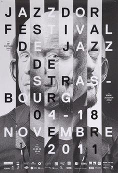 Poster for Jazzdor Festival, 2011. Design by Helmo.