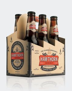 Hawthorn Brewing Co. #beer #branding #pale #packaging #drink #co #label #food #brewing #logo #ale #pilsner #hawthorn