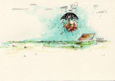 MEMORIAS DE BANQUITOS... #illustration #art