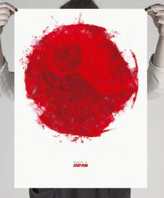 #minimal #poster #japan #star_wars #death_star #red