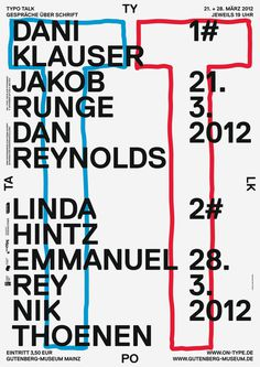 ON TYPE Texte zur Typografie, poster submitted and designed by Marcel Haüsler (2013)–Type Only Unit Editions #poster