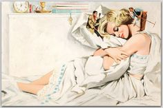 2564540_Image_5 (700x467, 81Kb) #erotica #alfred #james #portrait #pulp #bed #vintage #painting #meese