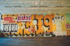 (8) margaret kilgallen | Tumblr #mural #kilgallen #margaret #painting #typography