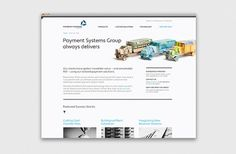 Payment Systems Group on the Behance Network #branding #design #origami #layout #web