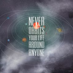Live for yourself. #center #quote #design #graphic #galaxy #type #planets #typography