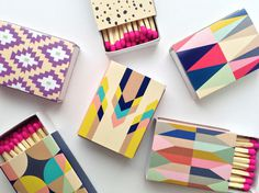 BelloPop makes decorative matchboxes #design #graphic