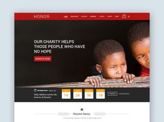 Honor : Charity PSD Template