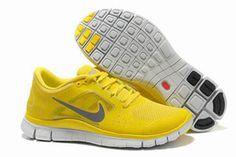 Nike Free Run 3 Running Shoe Yellow Reflective Silver Mens