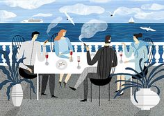 illustration, people, picnic