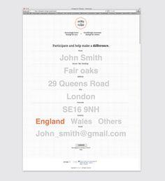 Grid | Ashwin Patel | Change for Change #information #interactive #form #application #type #web
