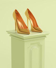 MORE Magazine: Marie Kondo #magazine #shoes #pastel #green #gold #fashion