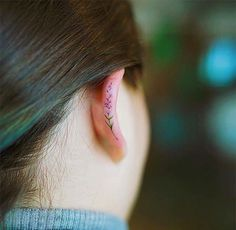 Helix Ear Tattoos