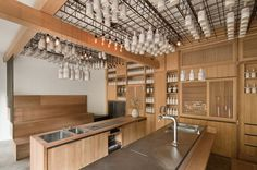Gamsei is a minimalist interior located in Munich, Germany, designed by Buero Wagner, F. Wagner, A. Kreft. A cocktail bar is usually rated b #interior #minimalist