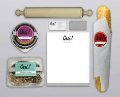 Oui! Bread & Pastries #page #stationary #packaging #design #oui #direction #corporate #brand #p #identity #for #art #breadpastries #web