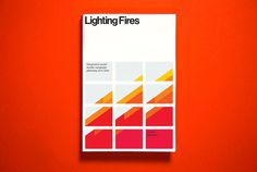 Lighting Fires - Identity project image #cover #grid #helvetica #book
