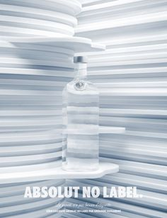 Absolut: No label | Ads of the World™ #absolut #white #blue #clear #label