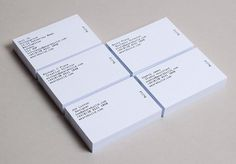 Build Stationery #typography #identity #business card #white #clean