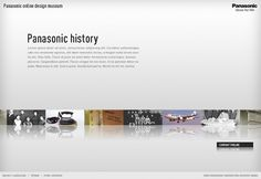 Panasonic Design Museum - Nicki Mayrhofer / Portfolio #website #panasonic #mayrhofer #nicki