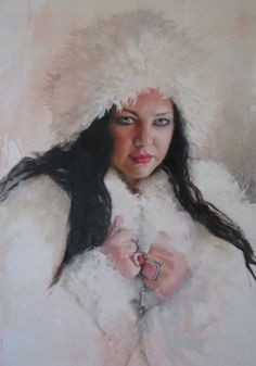 HOME #women #elizabeth #portrait #durango #painting #art #kinahan