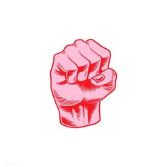 Illustration of power fist icon