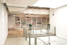 Sony Music Timeline #wall #space #art #typography