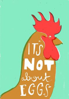 I made a card guys!https://www.etsy.com/listing/126333493/its not about eggs card #illustration #screenprint #screen print #drawing #chicken
